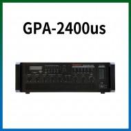 GPA-2400US/USB/SD Card/라디오/마이크1,2,3,4,/마이크1뮤트기능/AUX1,2/라인출력/챠임,싸이렌/펜텀파워/5회로셀렉터/AC,DC24V겸용/240와트