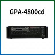 GPA-4800CD/CD/USB/SD Card/라디오/마이크1,2,3,4,/마이크1뮤트기능/AUX1,2/라인출력/챠임,싸이렌/펜텀파워/5회로셀렉터/AC,DC24V겸용/480와트